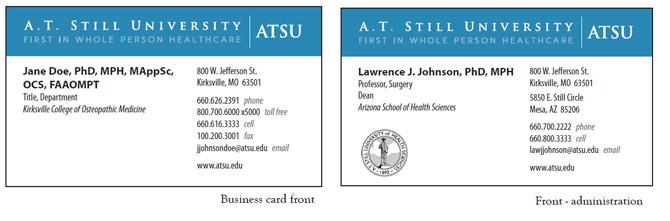 Visual identity branding toolkit atsu student business cards colourmoves Choice Image
