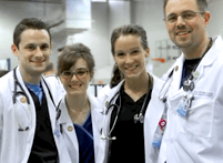 Image of four young ATSU-SOMA medical students