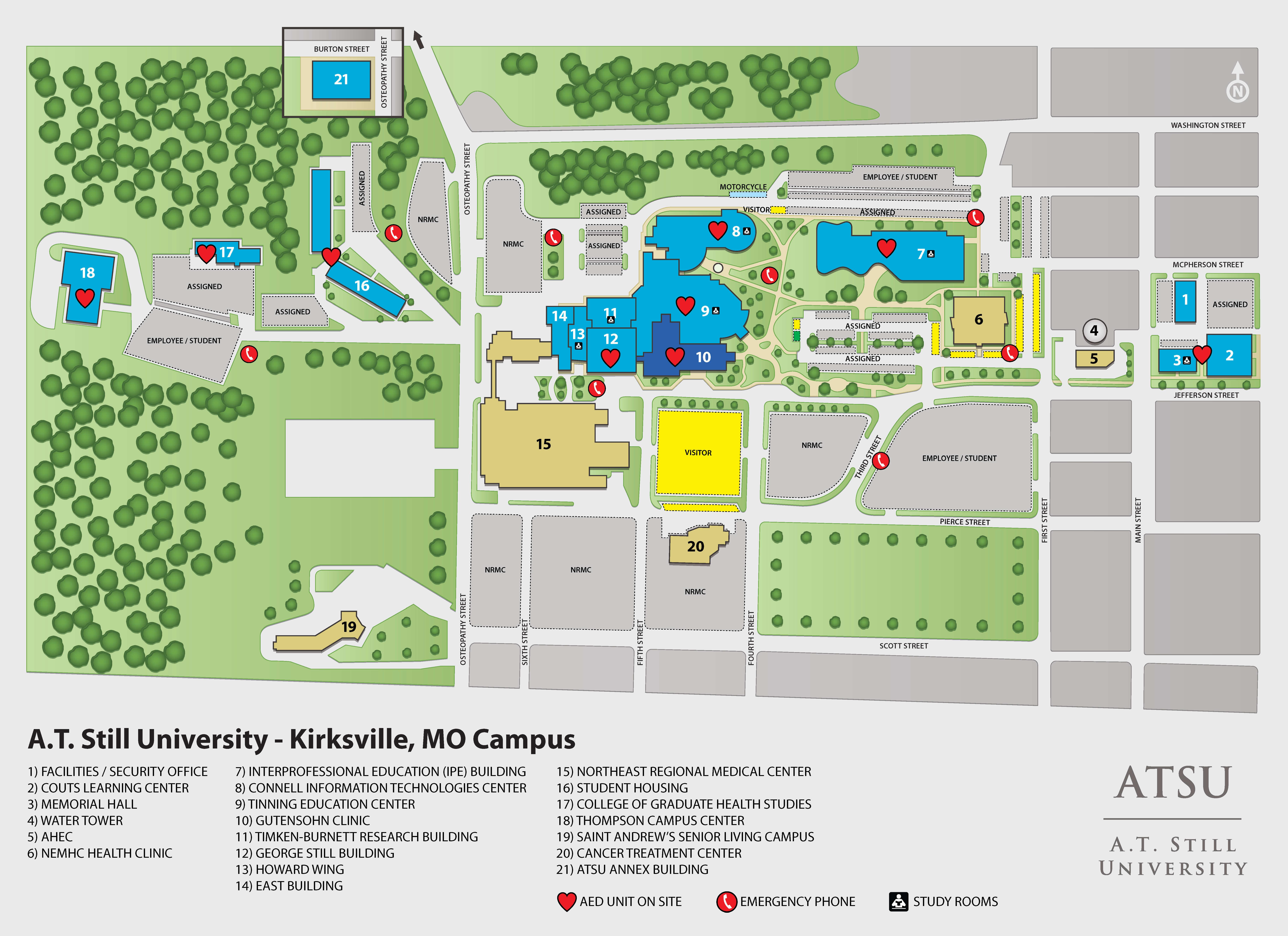ATSU K  Campus Maps