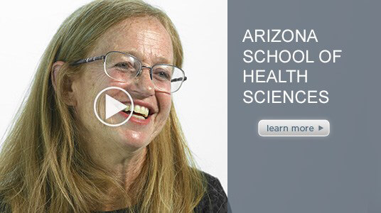 Thumbnail image for an intro video of ATSU's Arizona School of Health Sciences Vice Dean, Dr. Annlee Burch.