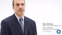 College of Graduate Health Studies, ATSU | Don Altman, Dean
