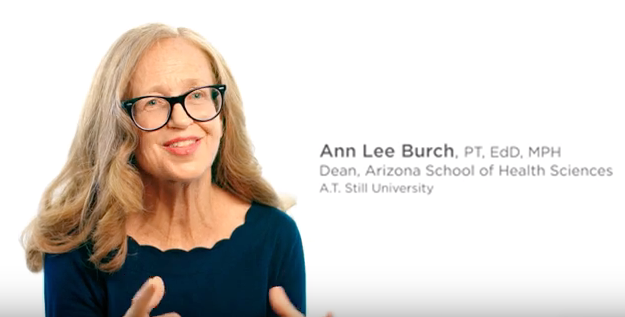 Thumbnail image for an intro video of ATSU's Arizona School of Health Sciences Dean, Dr. Annlee Burch.