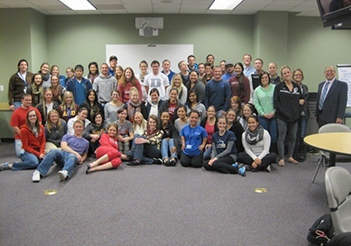 Group photo of ATSU's audiology students.