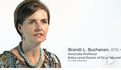 Thumbnail for a video of Brandi Buchanan, an associate professor within ATSU's Occupational Therapy program.