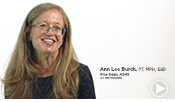 Image for an intro video of ATSU's Arizona School of Health Sciences Vice Dean, Dr. Annlee Burch.