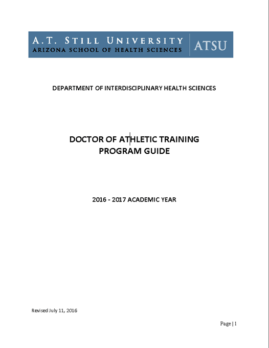 Doctor of Athletic Training Degree Online program guide