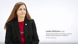Master of Health Administration | Dr. Letha Williams