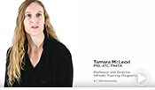 Thumbnail image for an intro video of Dr. Tamara McLeod, ATSU's Athletic Training Program Director.