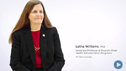 Doctor of Health Administration, ATSU | Dr. Letha Williams