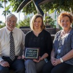 L-R, ASHS Dean Randy Danielsen, Michelle Chasse, and Sheree Fiske, president of ASHS Staff Assembly