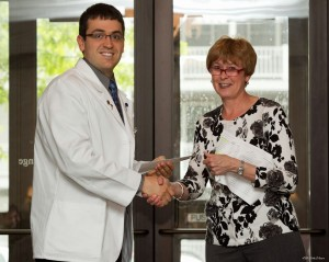 Kale Flory, OMS II, with Dr. Wilson