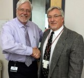 ASHS' Dean Randy Danielsen, PhD, PA-C, and PA program Chair Bert Simon, DHSc