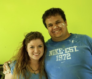Meagan Bryne and Garren Giles After Painting