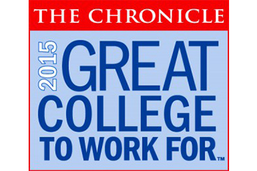 Chronicle of Higher Education Great Colleges to Work for graphic
