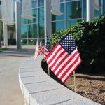 American Flags line the Arizona Campus of ATSU on Veterans Day