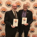 Gerry Keenan and Dr. Danielsen with their 2017 Awards of Excellence from the USA-Karate Arizona ASO