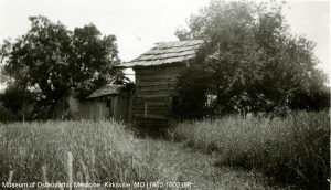 The Still family cabin sits in its original location in Virginia. Museum of Osteopathic Medicine [1985.1002.09]