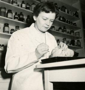 M. Olwen Roberts Gutensohn, DO, 1943, Museum of Osteopathic Medicine, Kirksville, Missouri [2010.02.846]