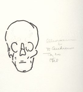 In addition to being a researcher, Dr. Weaver was also an artist. She hand-sketched this osteogram of Dr. Still's skull to illustrate his asymmetrical cranium. Museum of Osteopathic Medicine, Kirksville, Missouri [2010.39.05]