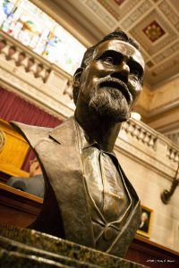 A bronze bust of Dr. Still was unveiled and placed on the third floor rotunda of the Missouri Capitol.
