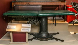 The McManis Treatment Tables, which weighed about 500 pounds, were adjustable and eased the stress on the physician when treating patients.