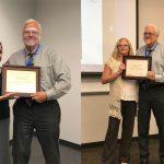 Amanda Vigil and Jennifer Harris with Dr. Randy Danielsen receiving their ATSU-ASHS staff assembly awards