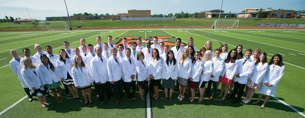 MOSDOH students attending white coat ceremony