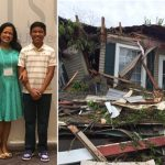 Nathalie Pormentira's family and her destroyed home