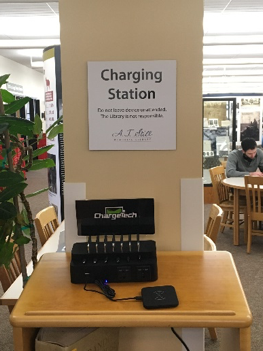 New charging station in the Missouri library