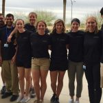 group of high school students with ATSU athletic training students
