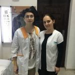 Iulia Badea with her preceptor in a Romanian clinic.