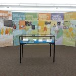 six banners on display in A.T. Still Memorial Library