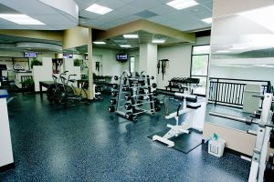 image of cardio and weight equipment in the newly rennovated room