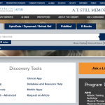 Screen capture of the A.T. Still Memorial Library's new website