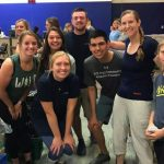 Athletic training students, faculty, and friends at a food bank event