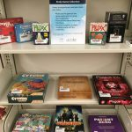 New board games on display at the library