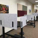 privacy desks in the library