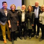 Dr. Danielsen and a group of panelists in New York City