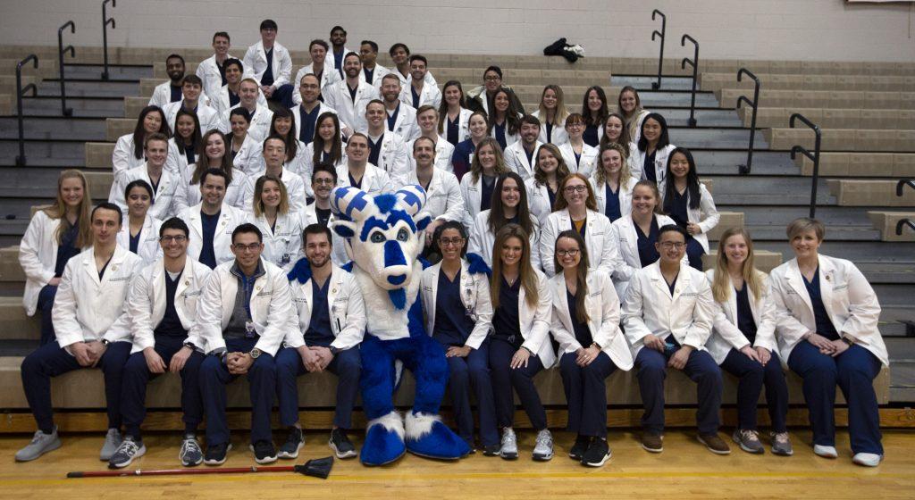 ATSU-MOSDOH students pose with Bucky