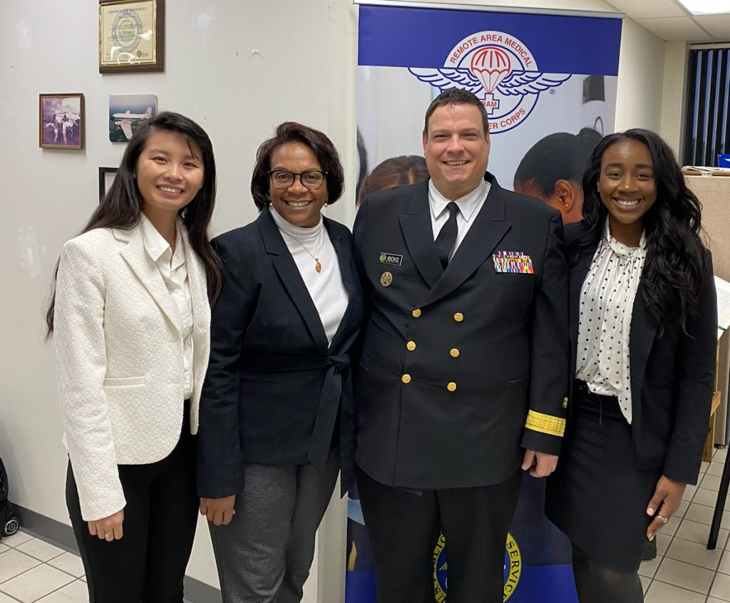 ATSU faculty and staff pose with Rear Adm. Tim Ricks, DMD, MPH, assistant surgeon general