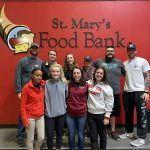 Athletic training students at the St. Mary's Food Bank.