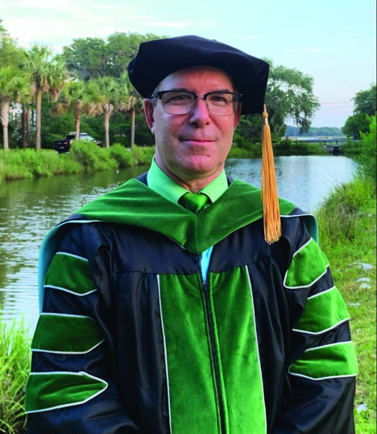 Dr. Carl Whalen in regalia