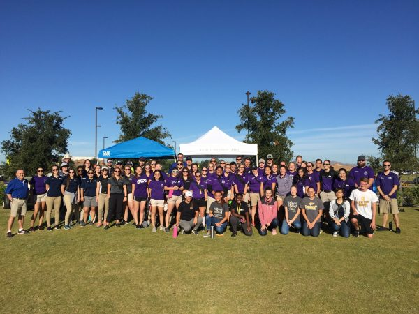 Athletic training students at the HLAA walk