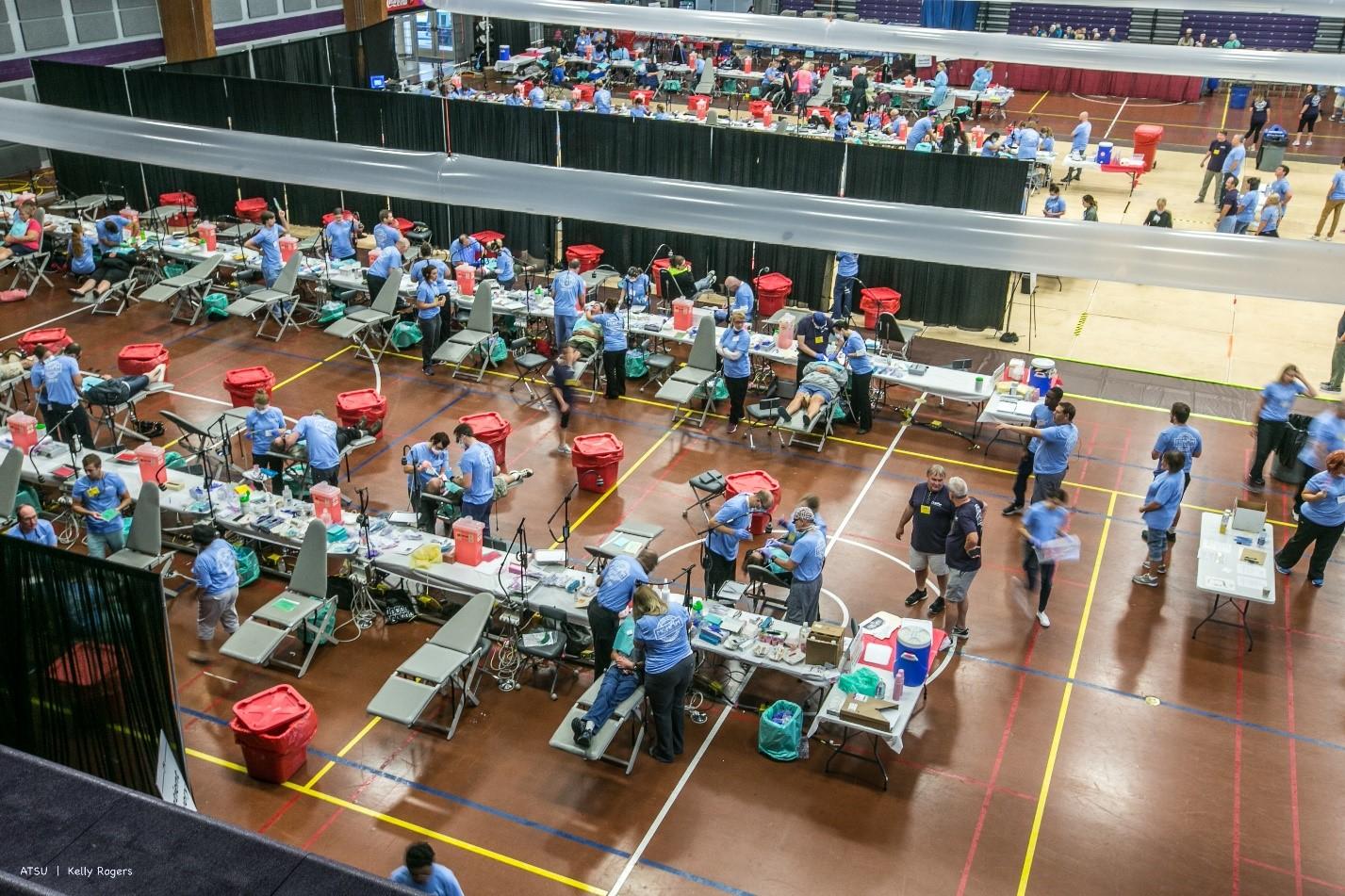 volunteers working in clinic