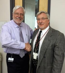 ASHS' Dean Randy Danielsen, PhD, PA-C, and PA program Chair Bert Simon, DHSc