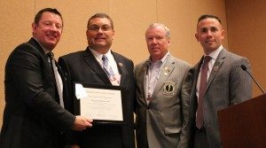 (L-R) ACOFP President Dr. Jeffrey Grove; Dr. Shabloski; ACOFP Secretary/Treasurer Dr. Larry Anderson; and Ray Quintero, AOA Director of the Department of Government Relations