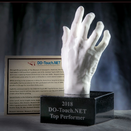 3D printed replica of Dr. Still's hand