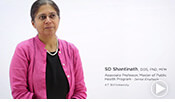 intro video of Dr. S.D. Shantinath, an associate professor within ATSU's CGHS.