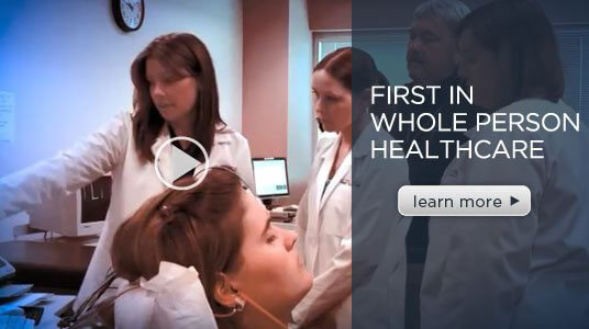 Image of ATSU Students and Professors in training video and learn more link
