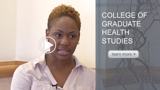 Video capturing the testimonial of an ATSU College of Graduate Health Studies student.